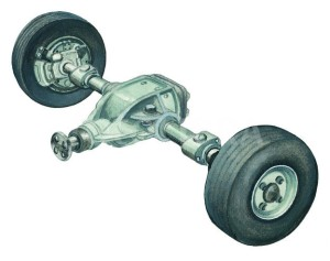 CAR AXLE-ILLUSTRATION